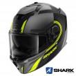Shark SPARTAN GT Tracker Mat Full Face Helmet - Anthracite Black Yellow