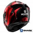 Shark SPARTAN GT Replikan Full Face Helmet - Black Chrom Red