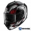 Shark SPARTAN GT Replikan Mat Full Face Helmet - Black Chrom Silver