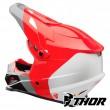 Thor SECTOR BOMBER Dirt Bike Helmet - Red Charcoal