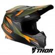 Thor SECTOR WARSHIP Dirt Bike Helmet - Green Orange