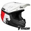 Thor Youth SECTOR RACER Dirt Bike Helmet - White Blue Red