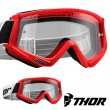 Thor Youth COMBAT Goggles - Red Black