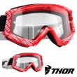 Thor Youth COMBAT CAP Goggles - Red White