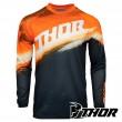 Thor Youth SECTOR VAPOR Kid's MX Jersey - Orange Midnight