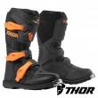 Thor Youth BLITZ XP MX Boots - Charcoal Orange