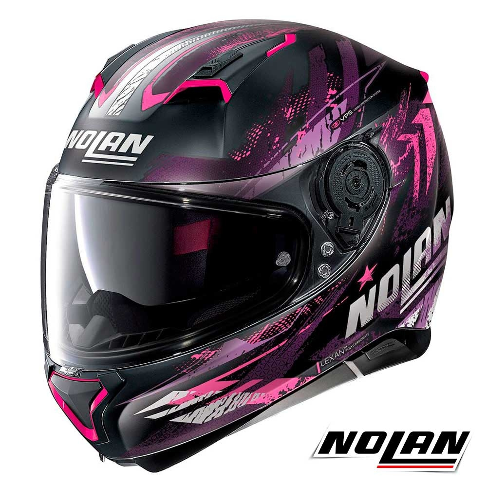 CASCO MOTO NOLAN n87 Special PLUS N-COM GR Grafite//nero opaco XXS colore