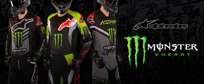 Exclusive Alpinestars Monster Energy Collection